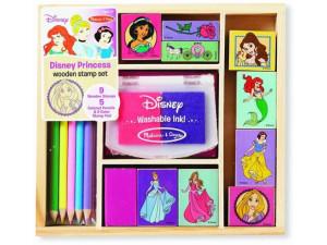 Princesas Disney sellos madera