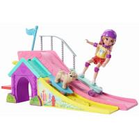 Barbie Chelsea y su pista de patinaje FBM99
