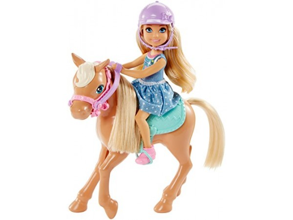 Barbie Chelsea y pony DYL42