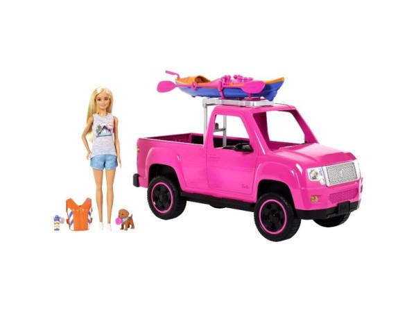 Barbie camping camioneta y kayak FNY40