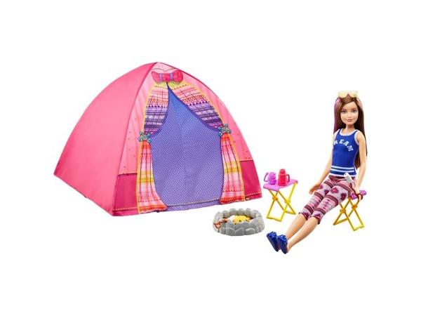 Barbie camping Skipper y carpa DYX19