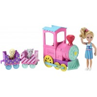 Barbie Chelsea y su tren de mascotas FRL86