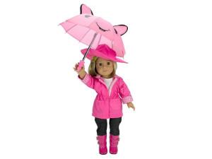 Ropa muñeca tipo American Girl lluvia