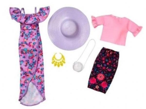 Barbie moda pliegues y flores