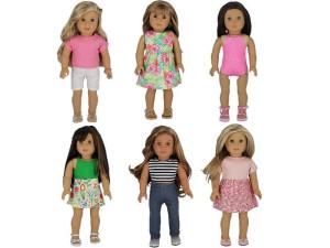 American Girl  moda genérica 7 pcs set 1