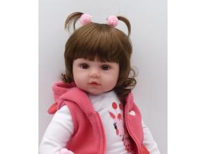 Muñeca Reborn realista hecha a mano 45 cm