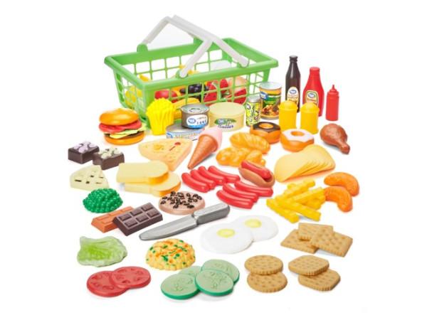 Canasta alimentos de juguete 100 pcs