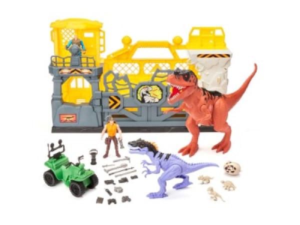 Set Jaula dinosaurios 28 pcs
