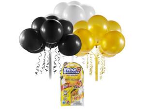 Globos autosellables -  Negro, dorado y blanco