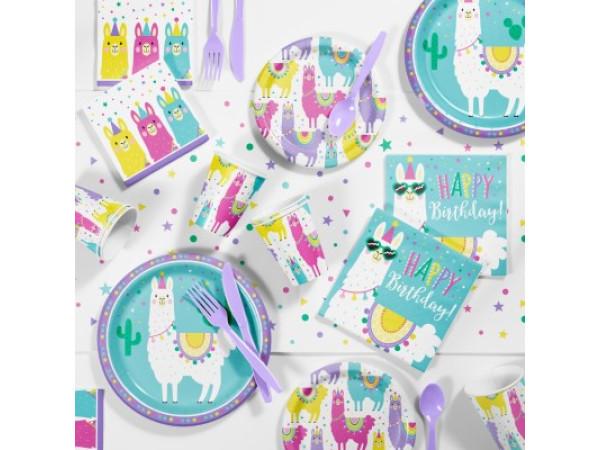Set cumpleaños Llama 8 personas