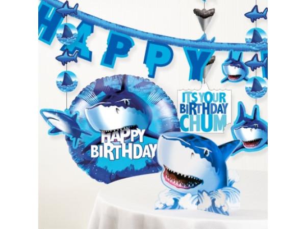 Kit decoración fiesta tiburón