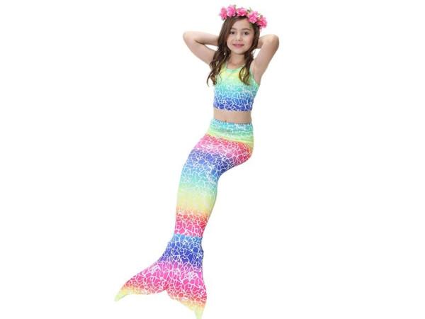 Cola sirena y bikini sin aleta