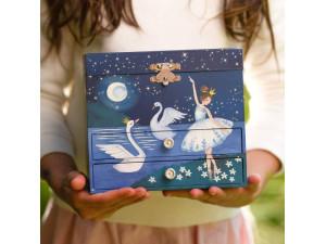 Joyero musical con bailarina - azul