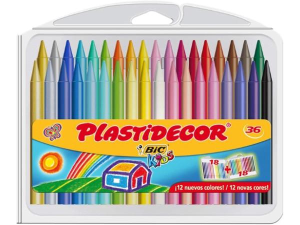 Plastidecor BIC 36 crayones de colores