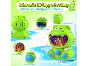 Máquina burbujas Hipópotamo verde