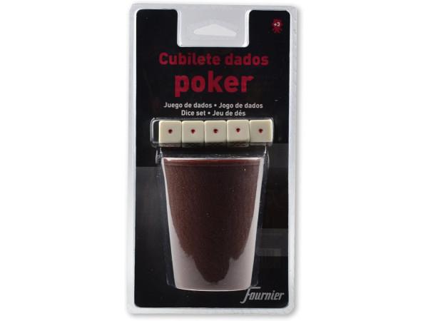 Cubilete dados Póker